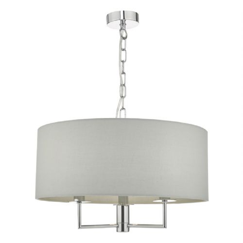 Jamelia 3lt Pendant Polished Chrome & Grey (double insulated) BXJAM0339-17